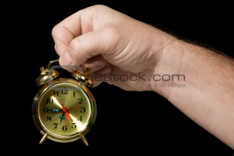 Alarm clock in a hand 2