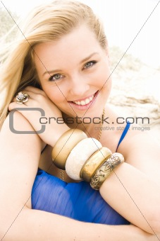 beautiful young girl at the beach