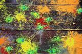 Spots of a paint