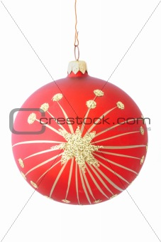 christmas ball on white