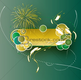 abstract green background for text