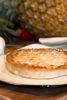 Small personal size pizza - studio shot
