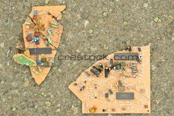 Circuit board smashed