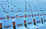 Empty Blue Seats in Open Air