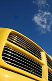 yellow truck grill