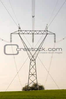 Electricity pylon with cables