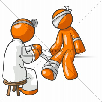 Orange Man Doctor Patient