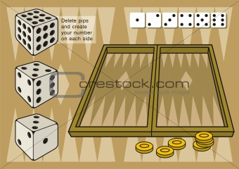 Backgammon with dices