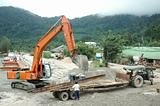 Excavator At Construction
