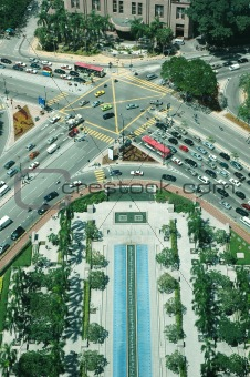 Aeriel View Of Road Intersection