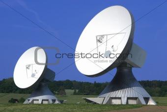 Pair of huge Satellite Dishes