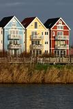 Colorful houses beside a river 5 (swedish style)