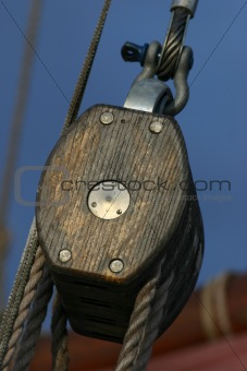 Detail of a ship's rigging