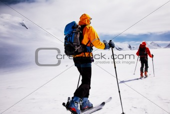 alpine touring skiers