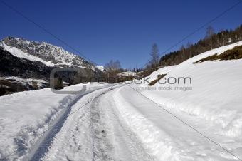 Mountain Street in Winter