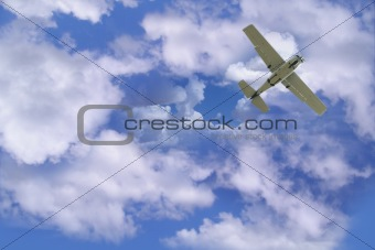 Airplane in sky