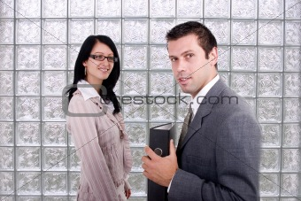 Business woman and man