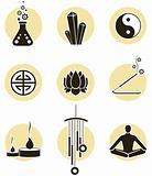 Spirituality icon set