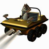 Fun Car with Toon Squirrel