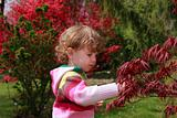 Child in the garden