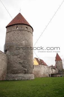 Towers of Old city Tallinn