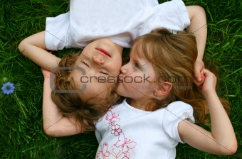 Playing in the grass