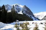 Lake Loise in winter