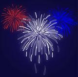 Fireworks Blue Background