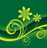 Green Abstract Flower Background