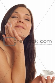 applying cream