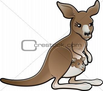 Cute Vector Kangaroo Illustration