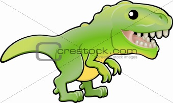Cute tyrannosaurus rex dinosaur illustration