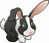 Cute lovable rabbit vector illustration 
