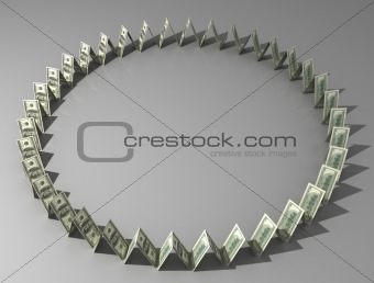 Circle from dollars