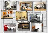 modern office interior image set