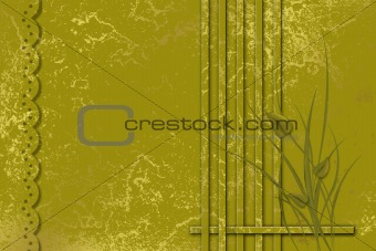 Abstract framework with grass and leaves