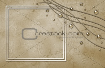 Abstract framework with bubbles and curles