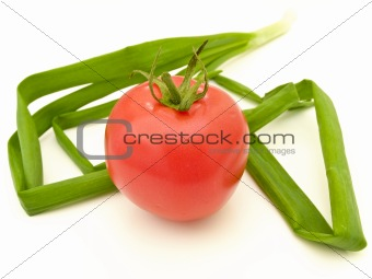 Tomato and leeks