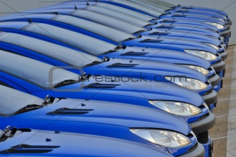 Cars in a line