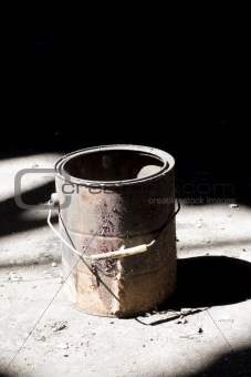 old paint bucket