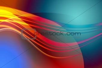 Abstract colored wave