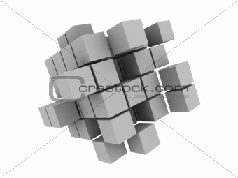 abstract 3d cubes