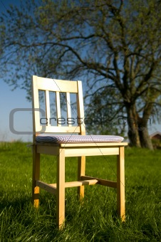 Countryside with chair