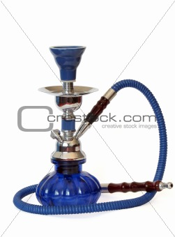 Blue and silver hookah