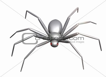 3d spider of their chromeplated metal