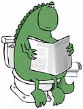 Dinosaur On A Toilet
