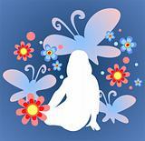 butterflies and girl