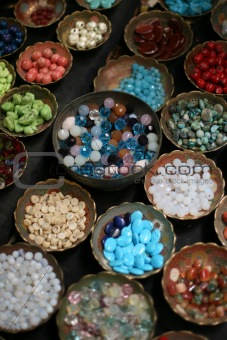 beads in bowls