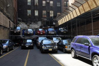 Cars parking in the city