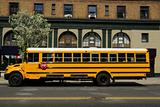 Yellow School Bus in New York City